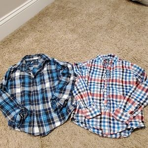Lot of 2 Children's Place Button Down Shirts